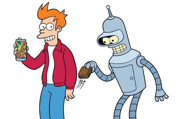 Fry and Bender