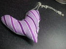 Fabric Heart Necklace