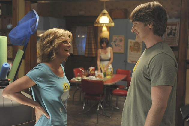 (L-R): Virginia (Martha Plimpton) and Jimmy (Lucas Neff).