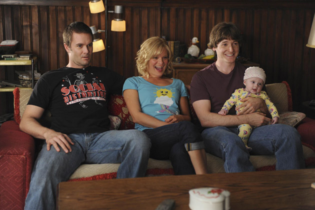 (L-R): Burt (Garret Dillahunt), Virginia (Martha Plimpton) and Jimmy (Lucas Neff).