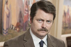 Ron Swanson on Parks and Recreation on FOUR