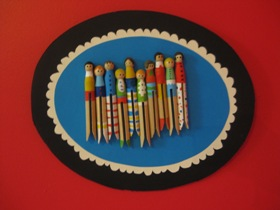 Peg People Wall Art