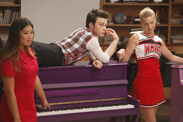 Kurt (Chris Colfer) and Brittany (Heather Morris)