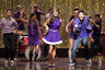 Kurt (Chris Colfer), Tina (Jenna Ushkowitz), Rachel (Lea Michele), Mike (Harry Shum, Jr.)