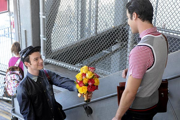 "Kurt (Chris Colfer) and Blaine (Darren Criss) in ""Asian F."""