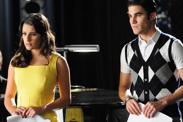 Rachel and Blaine take direction