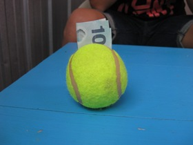 Tennis Ball Money Holder