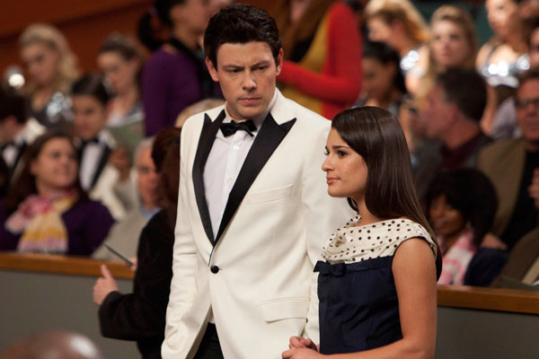 Finn and Rachel - they look so good in black and white