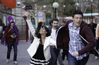The New Directions make their escape to a theme park on senior Ditch Day.