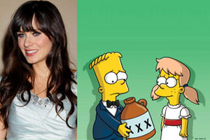 Zooey Deschanel to Appear in Breakfast at Tiffany's Style episode of The Simpsons