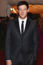 Cory Monteith looking slick in Calvin Klein tux at The Met Ball 2012