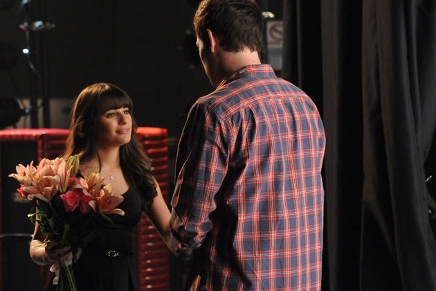 Finn wishes Rachel luck before her big audition.