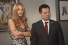 Lindsay Lohan guest stars alongside Rex Lee of Entourage.
