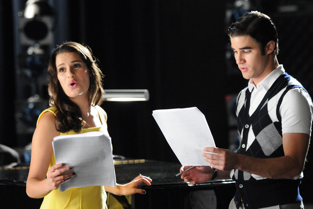 Behind the scenes - Darren Criss and Lea Michele