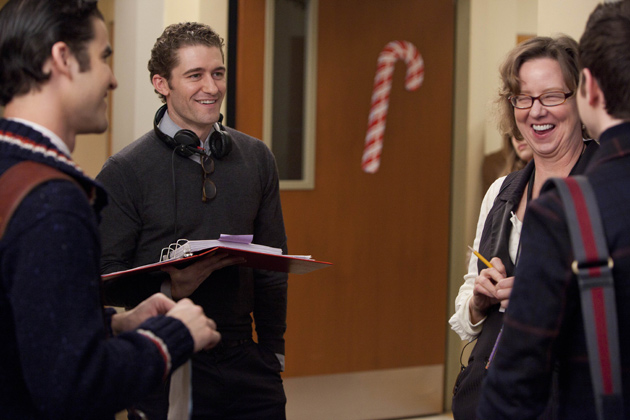 Behind the Scenes - Matthew Morrison directs an episode of Glee.