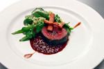 Juniper Roasted Elk with Sweet Potato and Bouquet of Citrus Greens