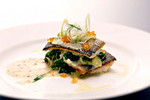 Trout Spanakopita with Crispy Leeks and Rainbow Trout Roe