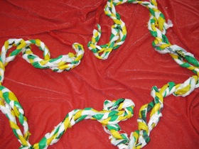Plastic Bag Skipping Rope