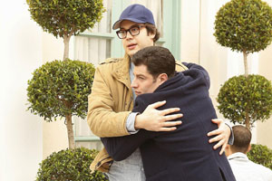 Schmidt and Robbie Man Hug on New Girl