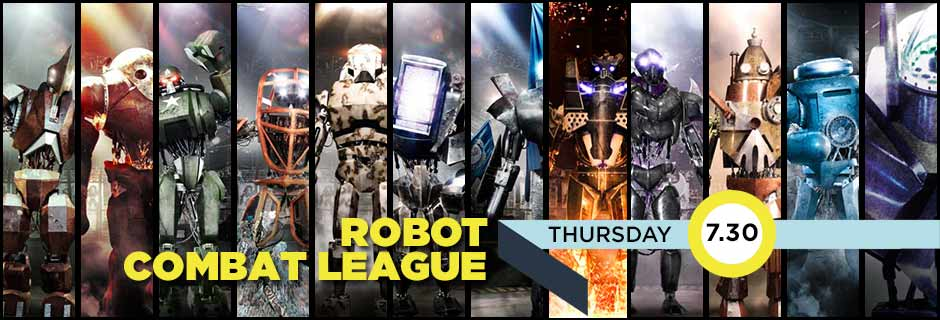 Robot Combat League Thursdays 7.30pm and On Demand