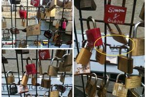 The lock that was stolen