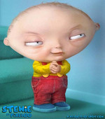Stewie looks much more evil as a human...
