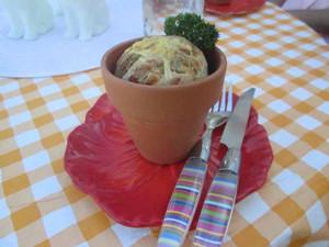Herb Bread In Flower Pots