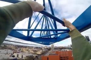 Crane climbing
